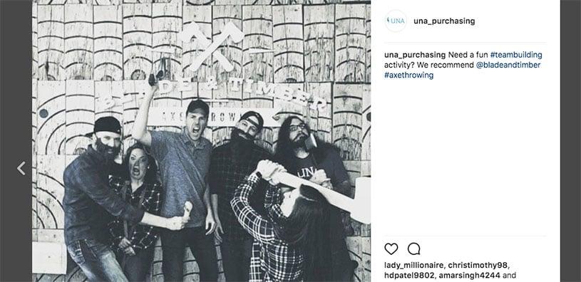UNA Instagram Culture Example