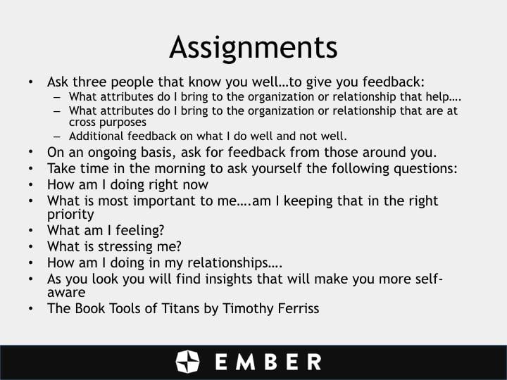 John Chisholm - assignments - slide