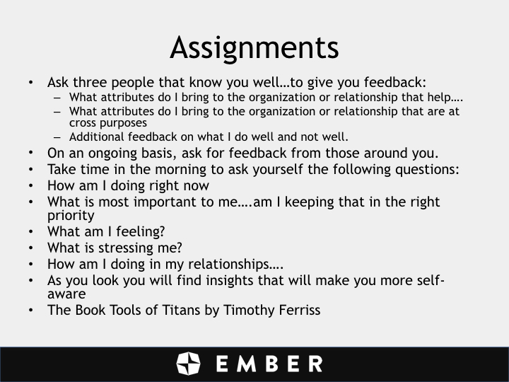 John Chisholm - assignments - slide