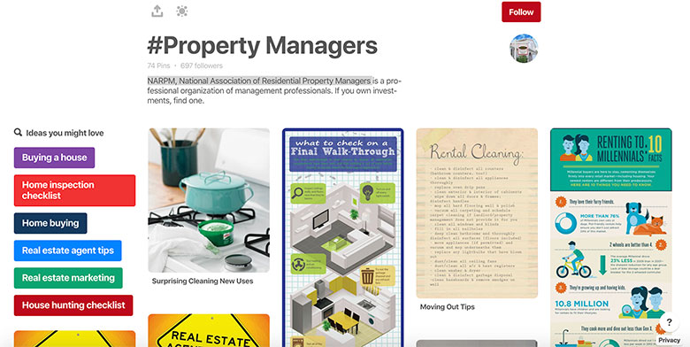 National Association of Residential Property Managers Pinterest