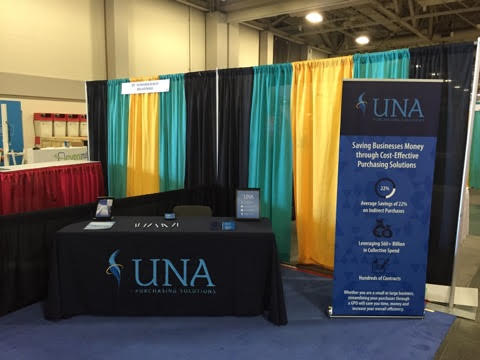 UNA Purchasing's booth at the ASAE Annual Meeting & Exposition