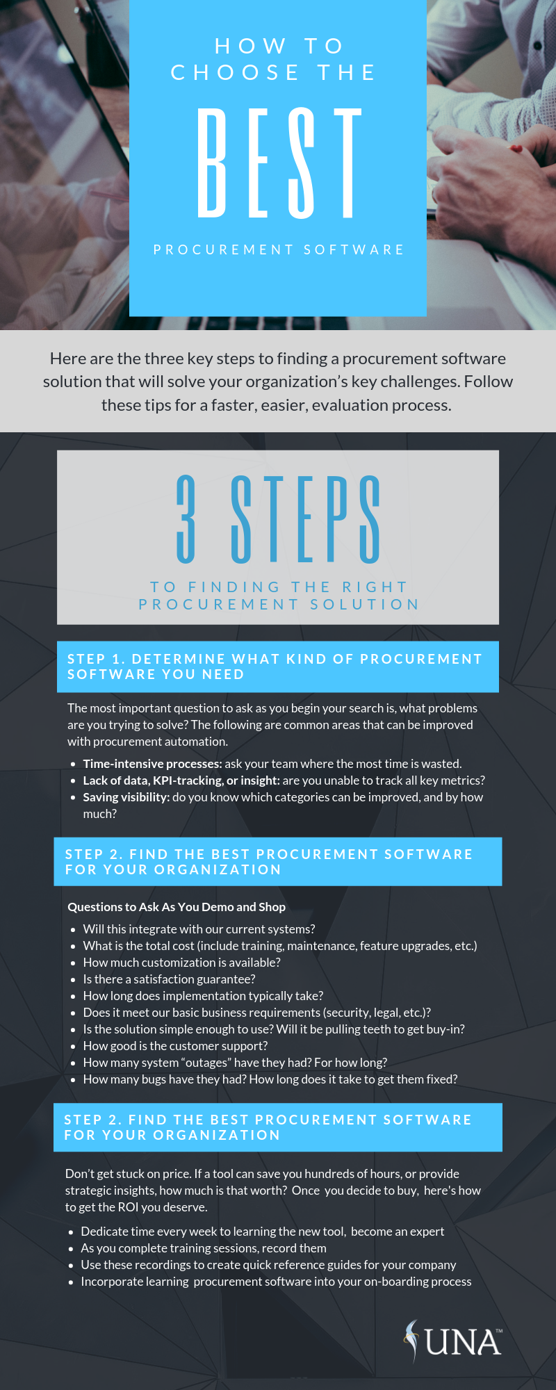 UNA Infographic How to Choose The Best Procurement Software